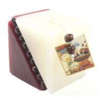 Red and White Coffee Bean Candle-Now Only £2.75